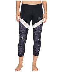 Adidas Marble Ultimate 3 4 Tights Black Women's Workout