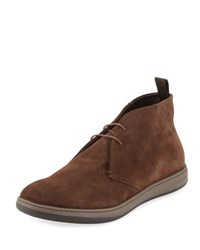 Giorgio Armani Perforated Suede Sport Chukka Boot Brown