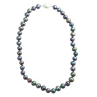 A B Davis River Pearl Magentic Clasp Necklace Peacock
