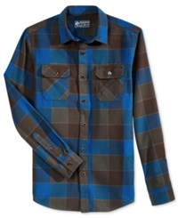 American Rag Wright Plaid Shirt Jacket Only At Macy's Crater Lake