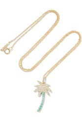 Jennifer Meyer Large Palm Tree 18 Karat Gold