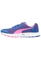 Puma Descendant V4 Neutral Running Shoes True Blue Knockout Pink