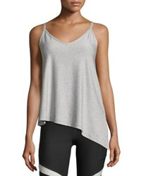 X By Gottex Diagonal Cut Camisole Top Light Gray