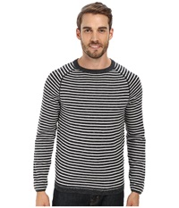 Agave Denim Surin Beach Long Sleeve Fine Guage Crew Anthracite Men's Clothing Pewter