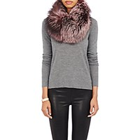 Lilly E Violetta Women's Fur Cowl Scarf Pink