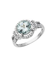 Lord And Taylor Aqua Diamond Ring In White Gold 14K White Gold