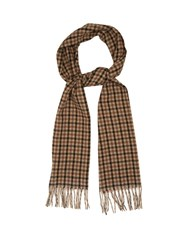 Gucci Checked Camel Hair Scarf Brown Multi