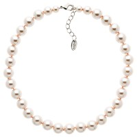Finesse Glass Pearl Necklace Blush