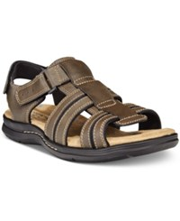 Dockers Men's Pierpont Open Toe Fisherman Sandals Men's Shoes Dark Brown