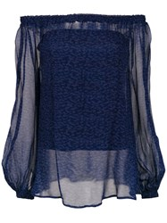 Tufi Duek Off The Shoulder Top Blue