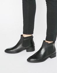 Oasis Leather Buckle Detail Chelsea Boot Black