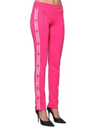 Versus By Versace Logo Band Jersey Track Pants Pink
