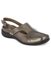 Easy Street Shoes Easy Street Sportster Comfort Clogs Women's Shoes Pewter