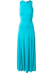 Versace Vintage Sleeveless Maxi Dress Blue
