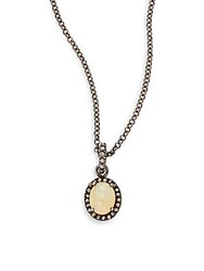 Bavna Diamond Opal And Sterling Silver Necklace No Color