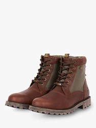 Barbour Cheviot Leather Waterproof Boots Brown