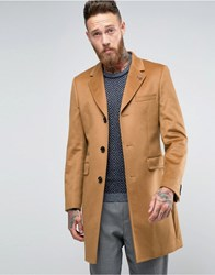 Ted Baker Cashmere Mix Overcoat In Camel 91 Camel Beige