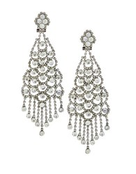 Bcbgmaxazria Brass And Steel Chandelier Earrings Silver