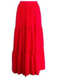 Gianluca Capannolo Panelled Maxi Skirt Red