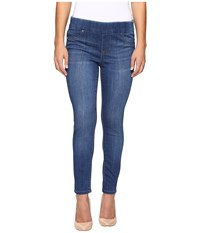 Liverpool Petite Sienna Pull On Ankle Jeans In Lanier Mid Indigo Lanier Mid Indigo Women's Jeans Blue