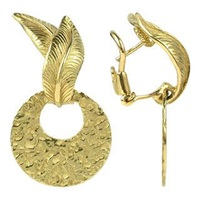 Torrini Victoria 18K Yellow Gold Chiselled Earrings
