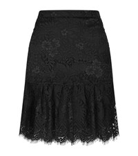 Claudie Pierlot Sonny Peplum Hem Lace Skirt Female Black