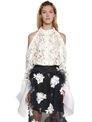 Act N 1 Hand Embroidered Lace And Organza Shirt