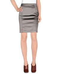 Galliano Skirts Knee Length Skirts Women Dark Brown