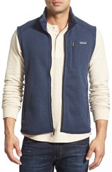 Men's Patagonia 'Better Sweater' Zip Front Vest Classic Navy