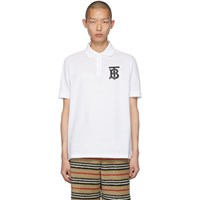 Burberry White Winford Polo