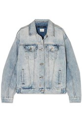 Ksubi Oversized Distressed Denim Jacket Light Denim