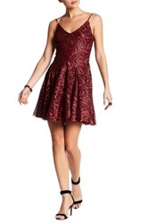 Betsey Johnson Tonal Sequin Party Dress Pink