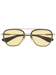 Dita Eyewear Pilot Shaped Sunglasses Gold