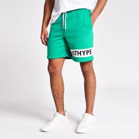 Green 'Just Hype' Logo Shorts