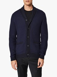 Selected Homme Shawl Neck Cardigan Medieval Blue