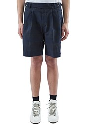 Kolor Textured Stripe Shorts Navy