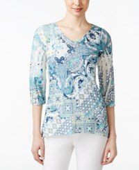 Styleandco. Style And Co. Floral Printed Top Only At Macy's Nation Evening