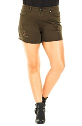 City Chic Plus Size Women's 'The Explorer' Short Shorts