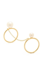 Kacey K Double Ring Pearl Gold