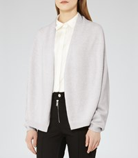 Reiss Oscar Womens Open Front Cardigan In Grey