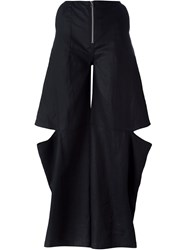 Eckhaus Latta Wide Leg Cut Out Pants Black