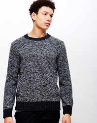Edwin Dock Knitted Jumper Black Charcoal