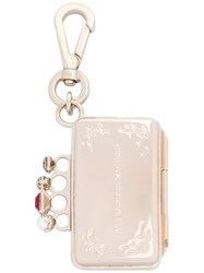 Alexander Mcqueen Mini Knuckle Keyring Metallic