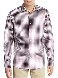 Saks Fifth Avenue Regular Fit Gingham Check Sportshirt