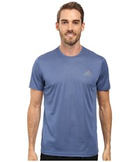 Adidas Essential Tech Crew Tee Collegiate Royal Heather Vista Grey Men's T Shirt Blue
