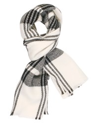 Chesca Check Blanket Scarf Black White Black White