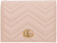 Gucci Pink Small Gg Marmont Wallet