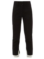 Ann Demeulemeester Layered Wool Blend Twill Trousers Black White