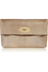 Mulberry Clemmie Metallic Textured Leather Clutch
