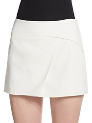 Bcbgmaxazria Asymmetrical Seamed Mini Skort Off White